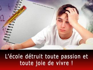 École détruit la passion et la joie