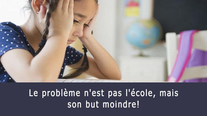 Problème avec l'école